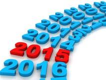 Νέο κόκκινο έτους 2015 απεικόνιση αποθεμάτων