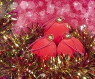 νέο κόκκινο s έτος σφαιρών Στοκ εικόνα με δικαίωμα ελεύθερης χρήσης