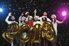 Νέο κόμμα έτους γραφείων διασκέδαση που έχει τις &nu Στοκ Εικόνα