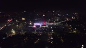 Νέο κόμμα παραμονής έτους στο εθνικό μνημείο απόθεμα βίντεο