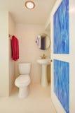 νέο λευκό τουαλετών καταβοθρών λουτρών Στοκ Φωτογραφία