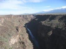 Νέο Μεξικό Taos φαραγγιών του Rio Grande Στοκ εικόνες με δικαίωμα ελεύθερης χρήσης