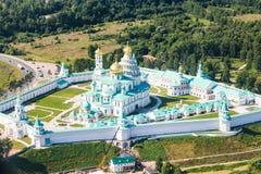 Νέο μοναστήρι της Ιερουσαλήμ στην περιοχή της Μόσχας Στοκ Εικόνες