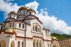 Νέο μοναστήρι Athos του ST Simon το μοναστήρι Canaanite στην ηλιοφάνεια Νέο Athos, Αμπχαζία Στοκ Εικόνες