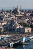 Νέο μουσουλμανικό τέμενος Ιστανμπούλ Στοκ Φωτογραφίες