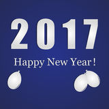 Νέο μπλε έτους 2017 διανυσματική απεικόνιση