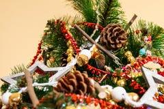 Νέο ντεκόρ έτους και Χριστουγέννων στοκ εικόνα