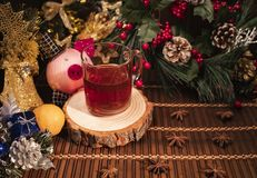 Νέο ντεκόρ έτους και Χριστουγέννων στοκ φωτογραφία με δικαίωμα ελεύθερης χρήσης