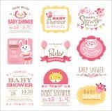 νέο ντους καρτών αγοριών μωρών γεννημένο Στοκ Φωτογραφίες