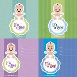 νέο ντους καρτών αγοριών μωρών γεννημένο Στοκ φωτογραφία με δικαίωμα ελεύθερης χρήσης