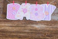 νέο ντους καρτών αγοριών μωρών γεννημένο Στοκ Εικόνες