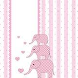 νέο ντους πρόσκλησης καρτών μωρών Στοκ Εικόνα