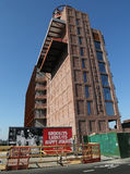 Νέο ξενοδοχείο Williamsburg κάτω από το ξενοδοχείο κατασκευής στο τμήμα Williamsburg στο Μπρούκλιν Στοκ Εικόνα