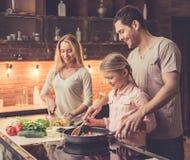 Νέο οικογενειακό μαγείρεμα Στοκ Φωτογραφία