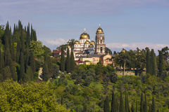 Νέο ορθόδοξο μοναστήρι Afon, Αμπχαζία Στοκ Εικόνες