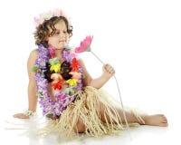 Νέο λουλούδι-αγαπώντας κορίτσι Hula Στοκ Εικόνες