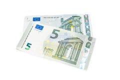 Νέο πέντε ευρώ πάνω από παλαιό πέντε ευρώ Στοκ εικόνες με δικαίωμα ελεύθερης χρήσης