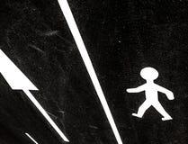 Νέο πέρασμα πεζών στη μαύρη πίσσα Στοκ Εικόνες