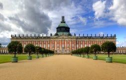 Νέο παλάτι (Neues Palais) στο πάρκο Sanssouci στο Πότσνταμ Στοκ Εικόνες