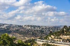 Νέο πανόραμα κατοικήσιμης περιοχής της Ιερουσαλήμ νέο Στοκ εικόνες με δικαίωμα ελεύθερης χρήσης