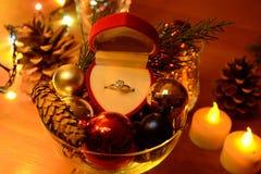 νέο παρόν έτος Χριστουγέννω Στοκ Εικόνα