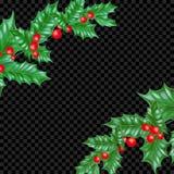 Νέο πλαίσιο διακοσμήσεων δέντρων πεύκων έλατου έτους προτύπων υποβάθρου ευχετήριων καρτών διακοπών Χριστουγέννων Διανυσματικά Χρι Στοκ Φωτογραφία