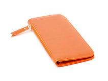 Νέο πορτοκαλί πορτοφόλι δέρματος Στοκ εικόνες με δικαίωμα ελεύθερης χρήσης