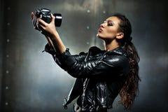 Νέο πορτρέτο μόδας γυναικών Στοκ Εικόνες