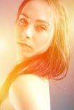 Νέο πορτρέτο brunette Στοκ εικόνα με δικαίωμα ελεύθερης χρήσης