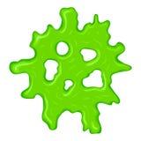Νέο πράσινο slime σημάδι διανυσματική απεικόνιση