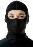 Νέο προκλητικό άτομο στη μαύρη μάσκα σκι Στοκ εικόνα με δικαίωμα ελεύθερης χρήσης