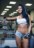 Νέο προκλητικό κορίτσι σε μια αθλητική γυμναστική στοκ εικόνα με δικαίωμα ελεύθερης χρήσης