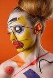 Νέο πρότυπο με την τέχνη σωμάτων Στοκ φωτογραφία με δικαίωμα ελεύθερης χρήσης