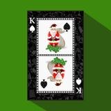 Νέο πόκερ έτους ` s καρτών απεικόνιση απεικόνιση αποθεμάτων