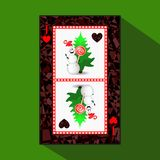 Νέο πόκερ έτους ` s καρτών απεικόνιση διανυσματική απεικόνιση