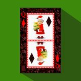 Νέο πόκερ έτους ` s καρτών απεικόνιση ελεύθερη απεικόνιση δικαιώματος