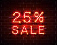 Νέο 25 πώληση διανυσματική απεικόνιση