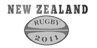 νέο ράγκμπι Ζηλανδία σφαιρώ&nu διανυσματική απεικόνιση