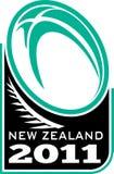 νέο ράγκμπι Ζηλανδία φτερών &sig διανυσματική απεικόνιση