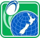 νέο ράγκμπι Ζηλανδία χαρτών &sigma Στοκ εικόνες με δικαίωμα ελεύθερης χρήσης