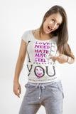 Νέο ρητό γυναικών σας χάνω Στοκ φωτογραφίες με δικαίωμα ελεύθερης χρήσης