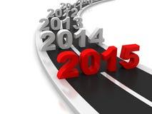 2015 νέο σημάδι έτους στο δρόμο απεικόνιση αποθεμάτων