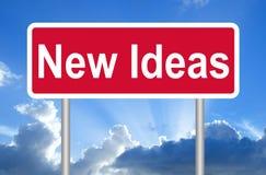 Νέο σημάδι ιδεών Στοκ Φωτογραφία