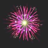 Νέο σημάδι πυροτεχνημάτων Στοκ Εικόνες