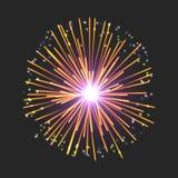 Νέο σημάδι πυροτεχνημάτων Στοκ φωτογραφία με δικαίωμα ελεύθερης χρήσης