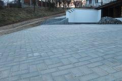 Νέο συγκεκριμένο πεζοδρόμιο στοκ φωτογραφίες