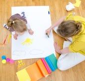 Νέο σχέδιο γυναικών και μικρών κοριτσιών Στοκ εικόνες με δικαίωμα ελεύθερης χρήσης