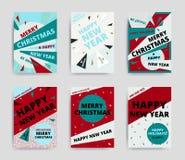 Νέο σχέδιο έτους Χαρούμενα Χριστούγεννας Στοκ Εικόνα