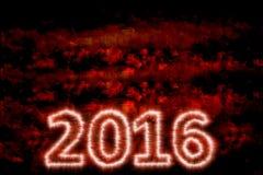 Νέο σχέδιο 1 έτους 2016 διανυσματική απεικόνιση