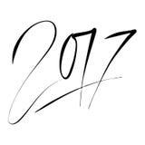 Νέο σχέδιο κειμένων έτους 2017 Σχέδιο εγγραφής χεριών διάνυσμα Στοκ φωτογραφία με δικαίωμα ελεύθερης χρήσης